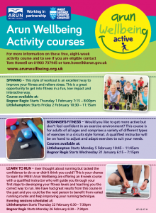 Wellbeing Active Courses 2018 Q1