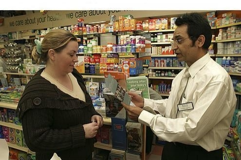 Stop smoking support at a pharmacy